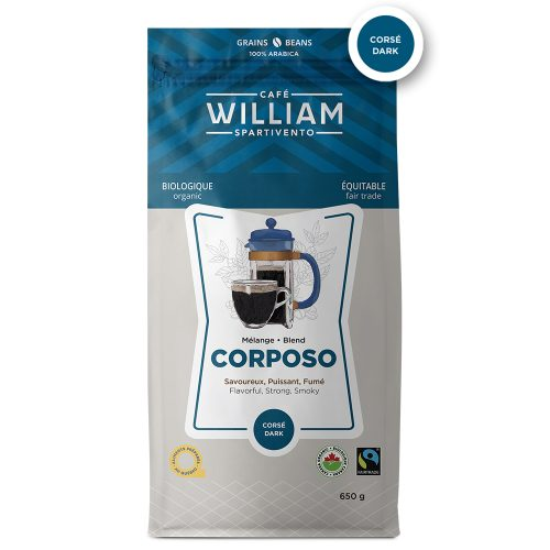 Corposo bio équitable - 650g en grains