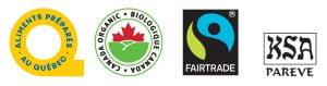 Logo organic, fairtrade