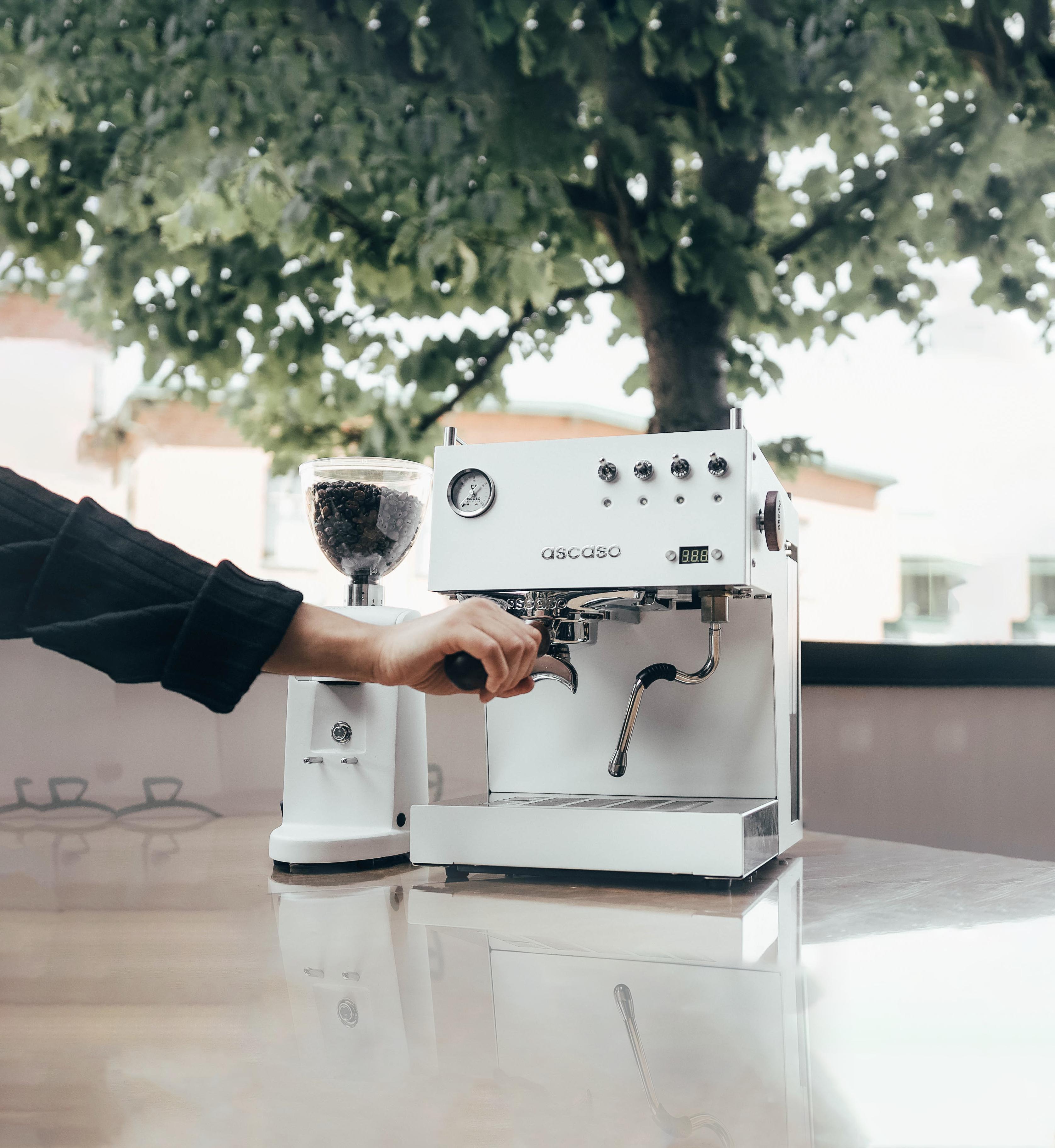 La machine espresso Ascaso, sublime à l'extérieur comme à l'intérieur